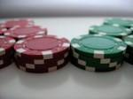 Wallpaper Poker Chips weiss und blau 1600x1200